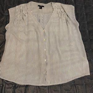 H&M V Neck Striped Blouse